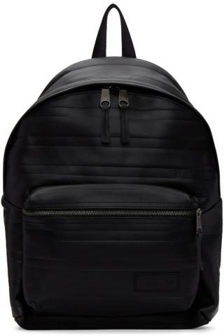 이스트팩 Eastpak Black Embossed Leather Pakr Backpack
