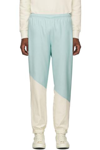 라코스테 라이브 X 골프 르 플레르 컬러블록 트랙 팬츠 (남녀공용) Lacoste Blue & White Golf le Fleur* Edition Logo Track Pants