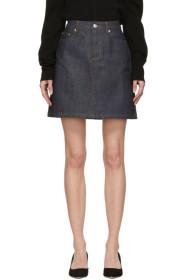 아페쎄 A.P.C. Indigo Denim Standard Miniskirt