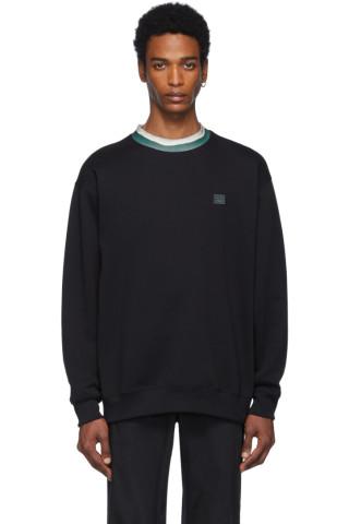 아크네 스튜디오 Acne Studios Black Folsom Face Sweatshirt