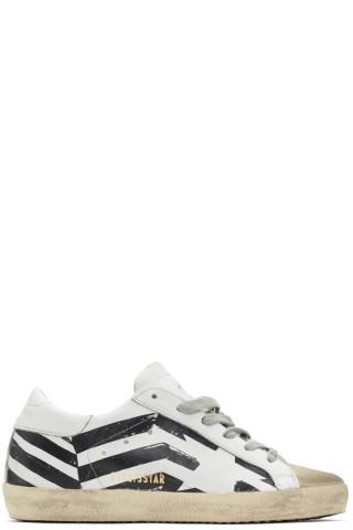 골든구스 화이트 플레이그 수퍼스타 스니커즈 Golden Goose White Flag Superstar Sneakers