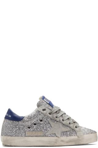골든구스 수퍼스타 스니커즈 Golden Goose Silver & Grey Superstar Sneakers
