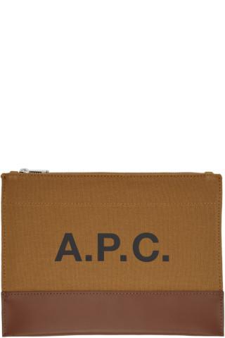 아페쎄 악셀 파우치 - 브라운 APC Brown Axelle Pouch