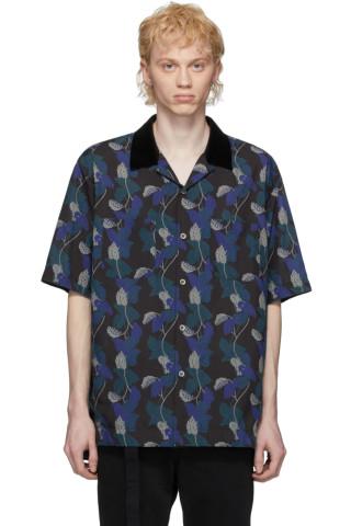 사카이 셔츠 Sacai Black & Blue Sun Surf Edition Monstera Shirt