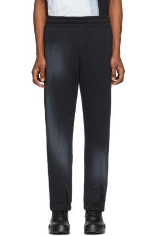 어 콜드 월 바지 A-Cold-Wall Black Snap Front Lounge Pants