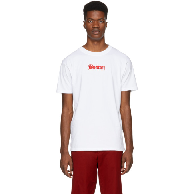 White Boston Red Sox Edition T Shirt by Marcelo Burlon County Of Milan