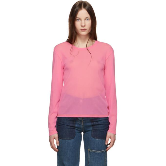 Pink Mesh Long Sleeve T Shirt by Anton Belinskiy