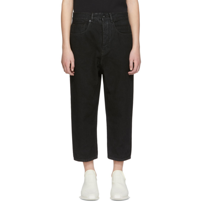 Black Collapse Jeans by Rick Owens Drkshdw