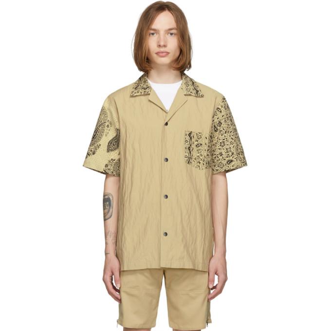 Beige Hawaiian Short Sleeve Shirt by Paria /Farzaneh