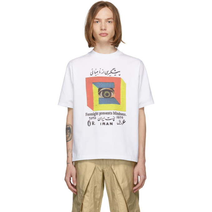 White 'foresight Prevents Blindness' T Shirt by Paria /Farzaneh