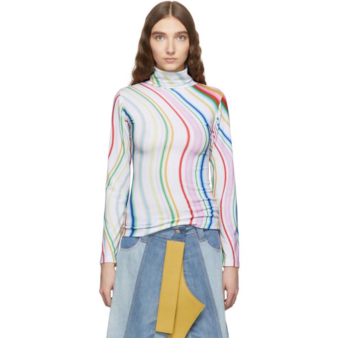 Ssense Exclusive Multicolor Ombre Turtleneck by Lecavalier