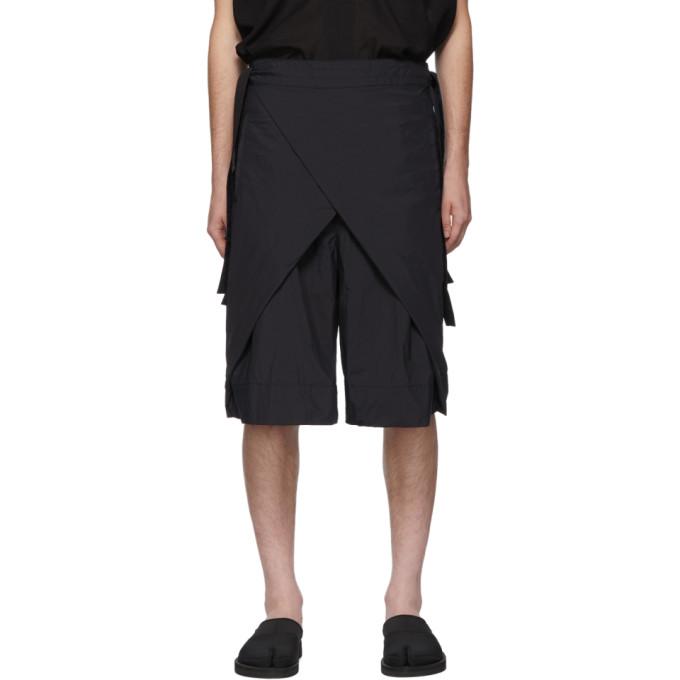 Navy Nanou Wrap Shorts by Sasquatchfabrix.