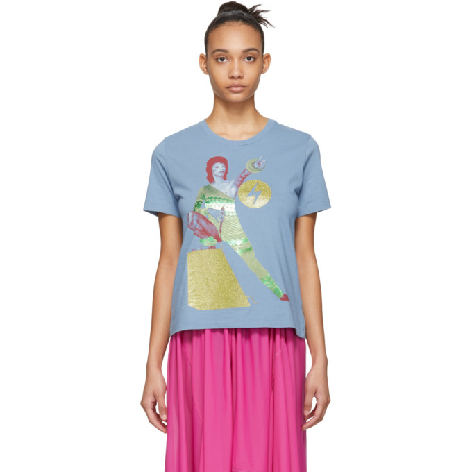 Blue David Bowie T Shirt by Undercover