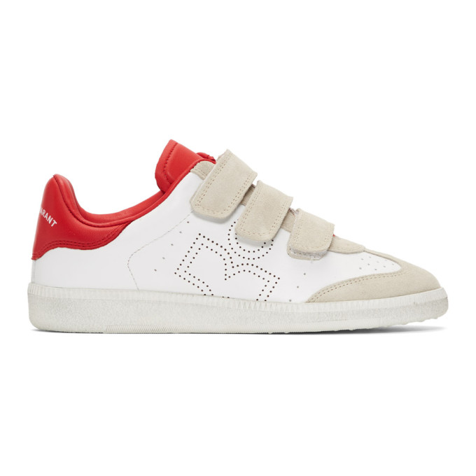Red & White Beth Sneakers by Isabel Marant