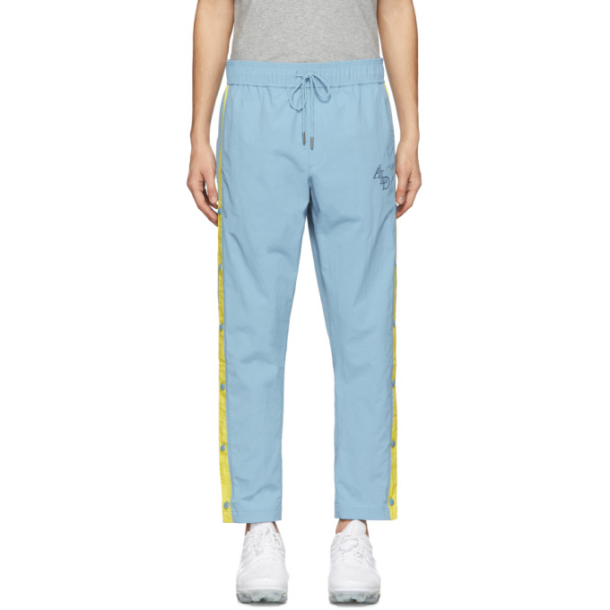 Blue & Yellow Warm Up Logo Track Pants by AimÉ Leon Dore