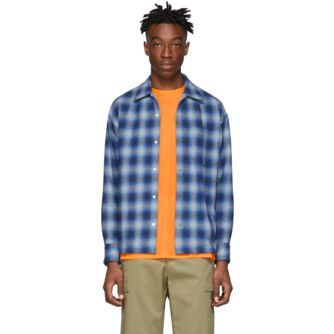 Blue Check Over Shirt by N.Hoolywood