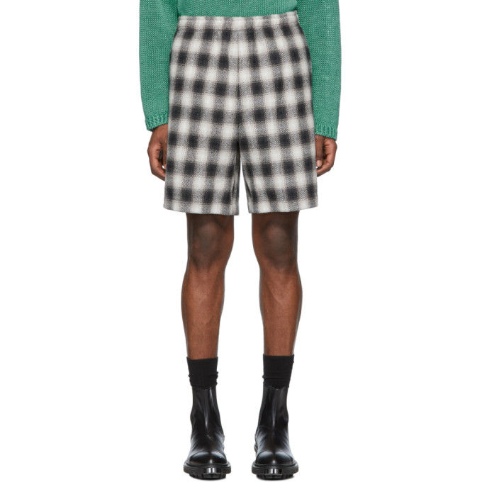 Black Check Shorts by N.Hoolywood