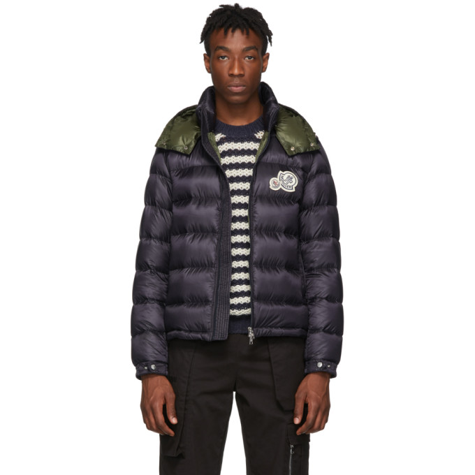 f07a9a384 Shoptagr | Navy Down Bramant Jacket by Moncler
