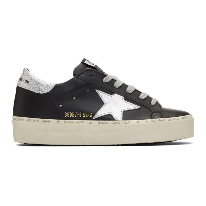 Golden Goose Black & Silver Hi Star Sneakers