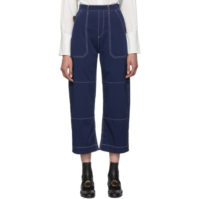 Blue Light Denim Boyfriend Jeans by ChloÉ