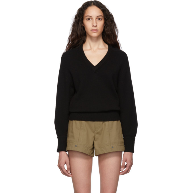 black-cashmere-iconic-v-neck-sweater by chloÉ