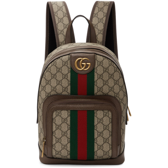 Beige Small Gg Ophidia Backpack by Gucci