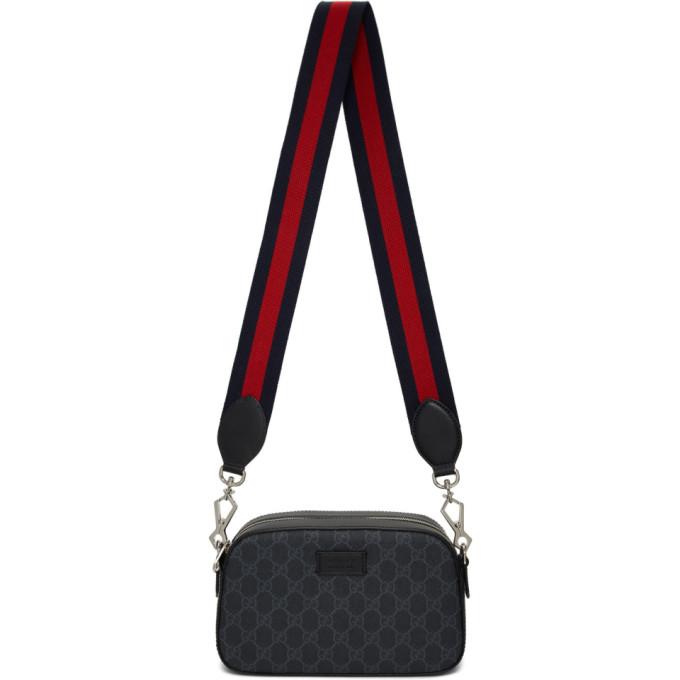 Shoptagr | Black Small Gg Supreme Camera Bag By Gucci