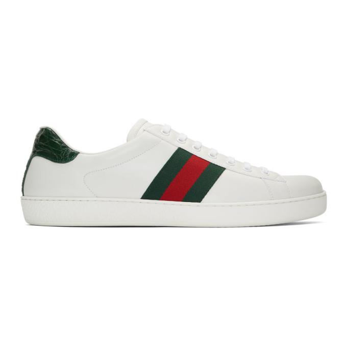 white gucci sneakers