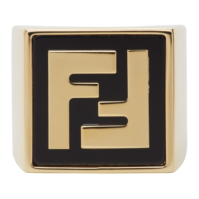 Gold Forever Fendi Signet Ring