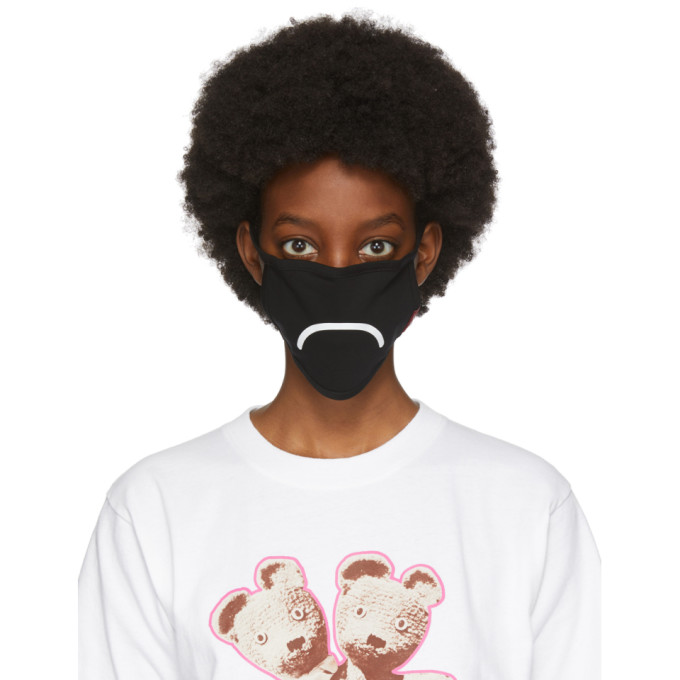 Marc Jacobs Three-Pack Black Smiley Face Masks