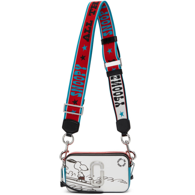 Marc Jacobs Red & Blue Peanuts Edition Snoopy Snapshot Shoulder Bag