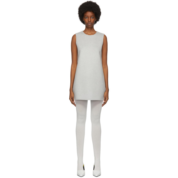 Marc Jacobs Grey Wool & Cashmere Double-Face Shift Short Dress