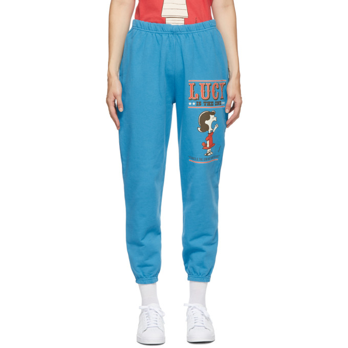 Marc Jacobs Blue Peanuts Edition The Gym Lounge Pants