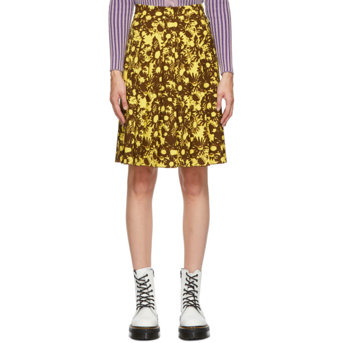 Yellow & Brown Heaven by Marc Jacobs Techno Skirt