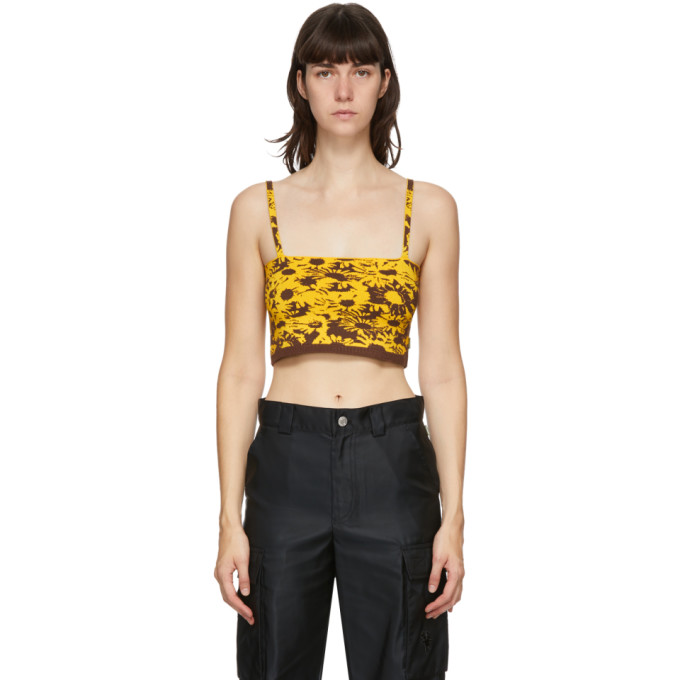 Yellow & Brown Heaven by Marc Jacobs Techno Tank Top