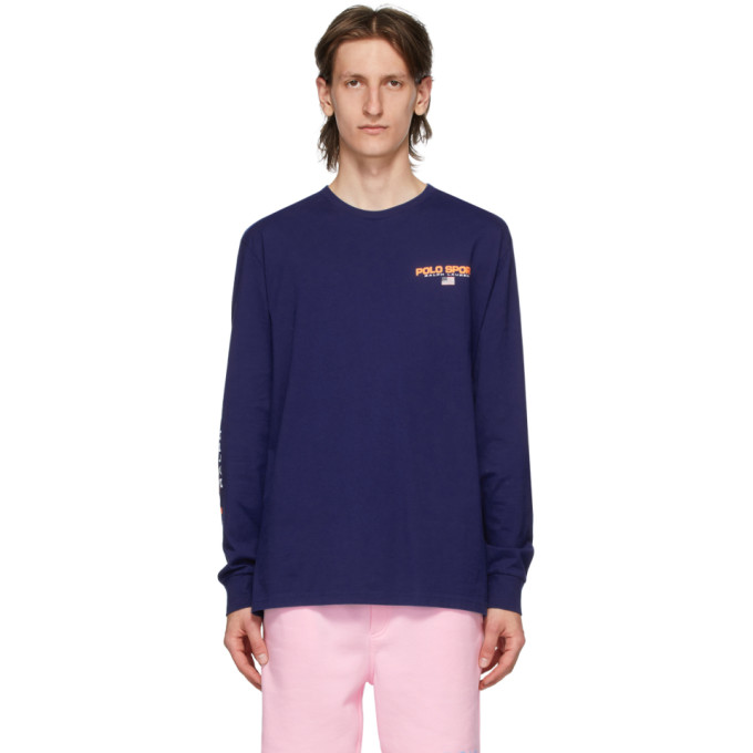 Polo Ralph Lauren Blue Polo Sport Long Sleeve T-Shirt