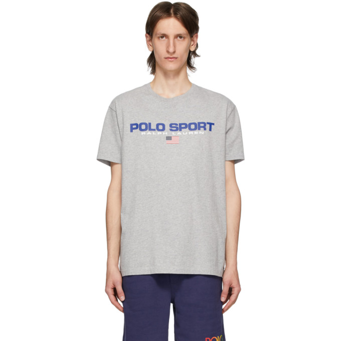 Polo Ralph Lauren Grey Polo Sport T-Shirt