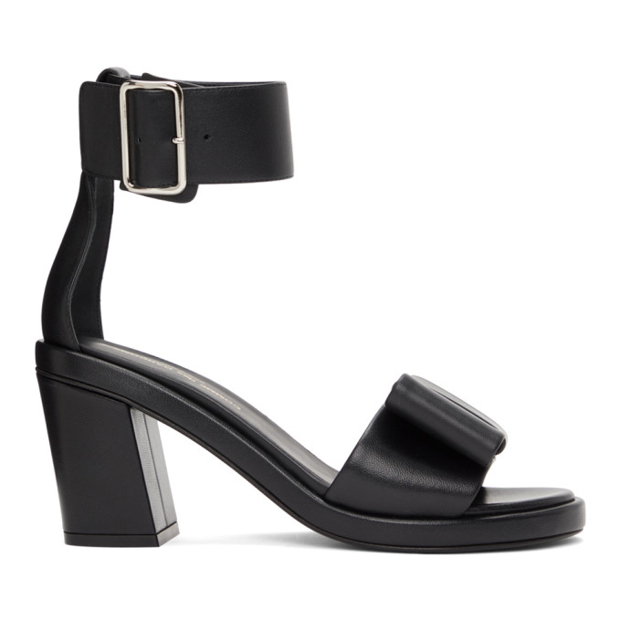 Comme des Garcons Black Bow Heeled Sandals