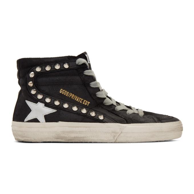 Golden Goose SSENSE Exclusive Black Stud Slide Sneakers