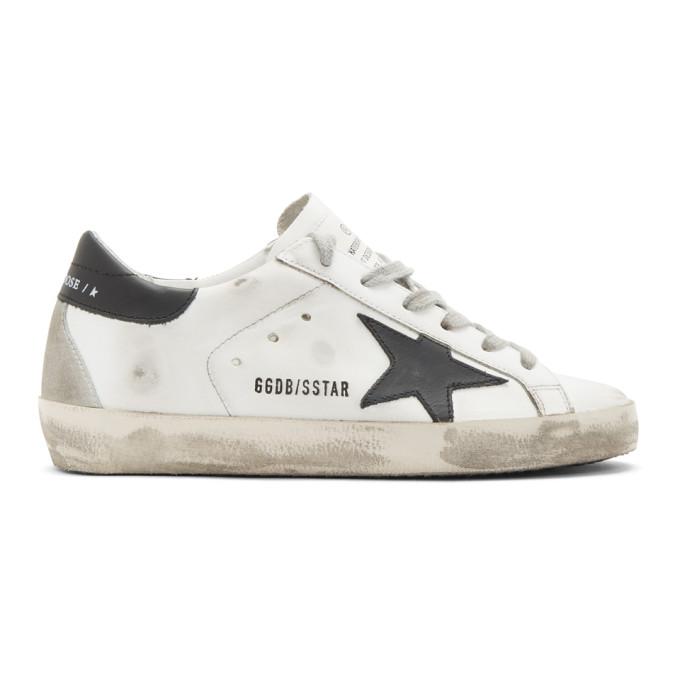 Golden Goose White & Black Superstar Sneakers