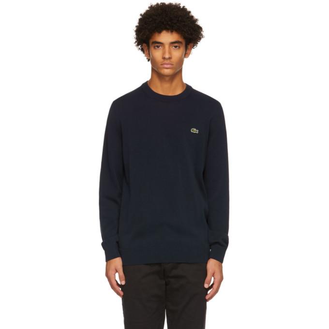 Lacoste Navy Cotton Crewneck Sweater