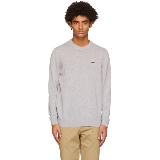 Lacoste Grey Cotton Crewneck Sweater