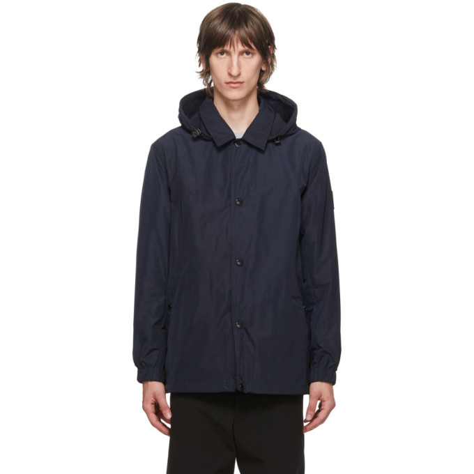 Burberry Navy Ealing Hooded Jacket