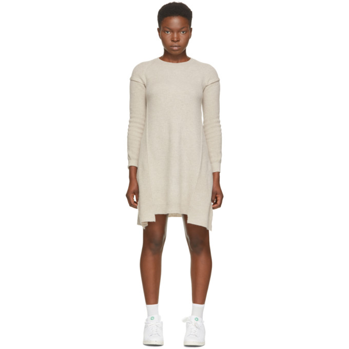Stella McCartney Beige Wool & Alpaca Deconstructed Dress