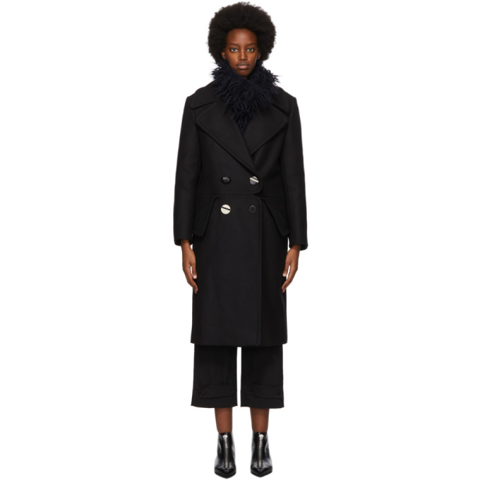 Stella McCartney Black Wool Cory Coat