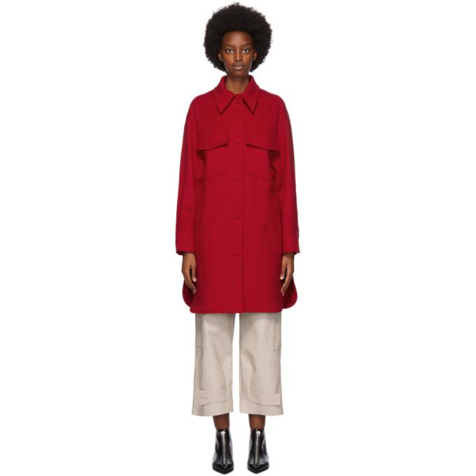 Stella McCartney Red Wool Kerry Coat
