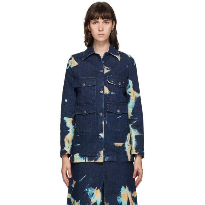 Stella McCartney Blue Denim Acid Wash Jacket