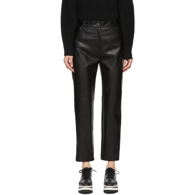 Stella McCartney Black Faux-Leather Hailey Trousers