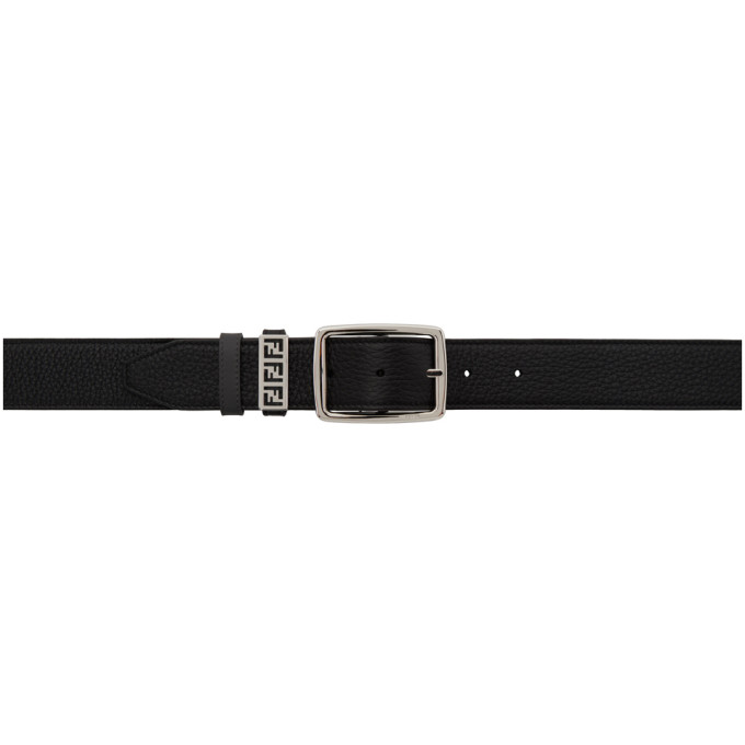 Fendi Reversible Black Leather Belt