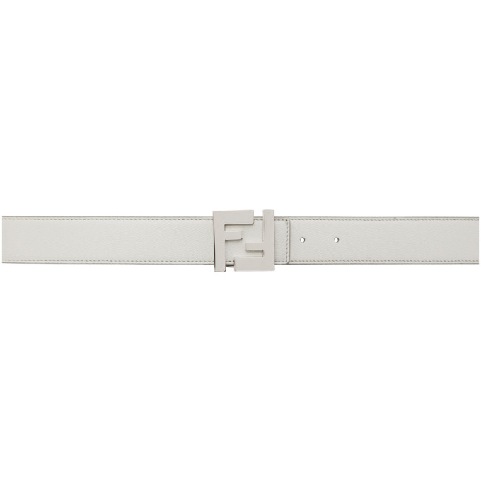 Reversible White & Black 'Forever Fendi' Belt